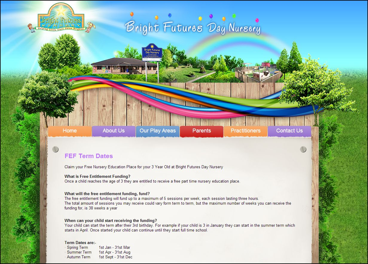 Bright Futures Day Nursery S Website Is Still Under Construction However There Plenty Of Content On The Site For Visitors