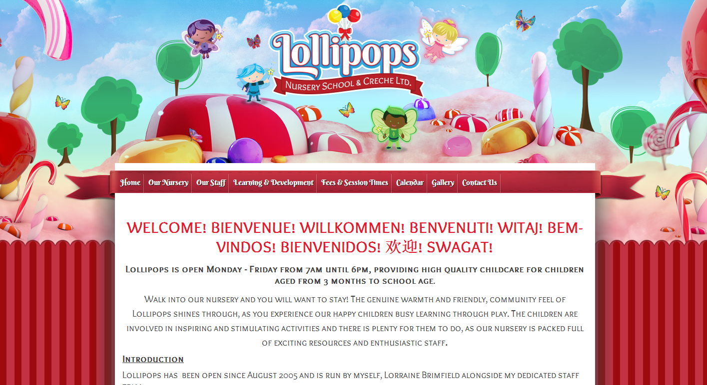 Website Of The Week Lollipops Nursery School Creche