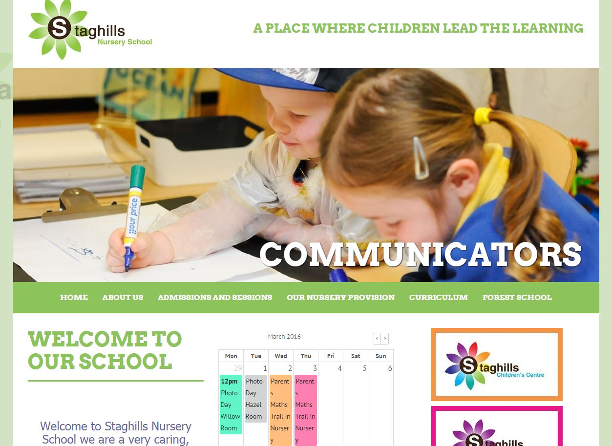 Website Of The Week Staghills Nursery School Websites