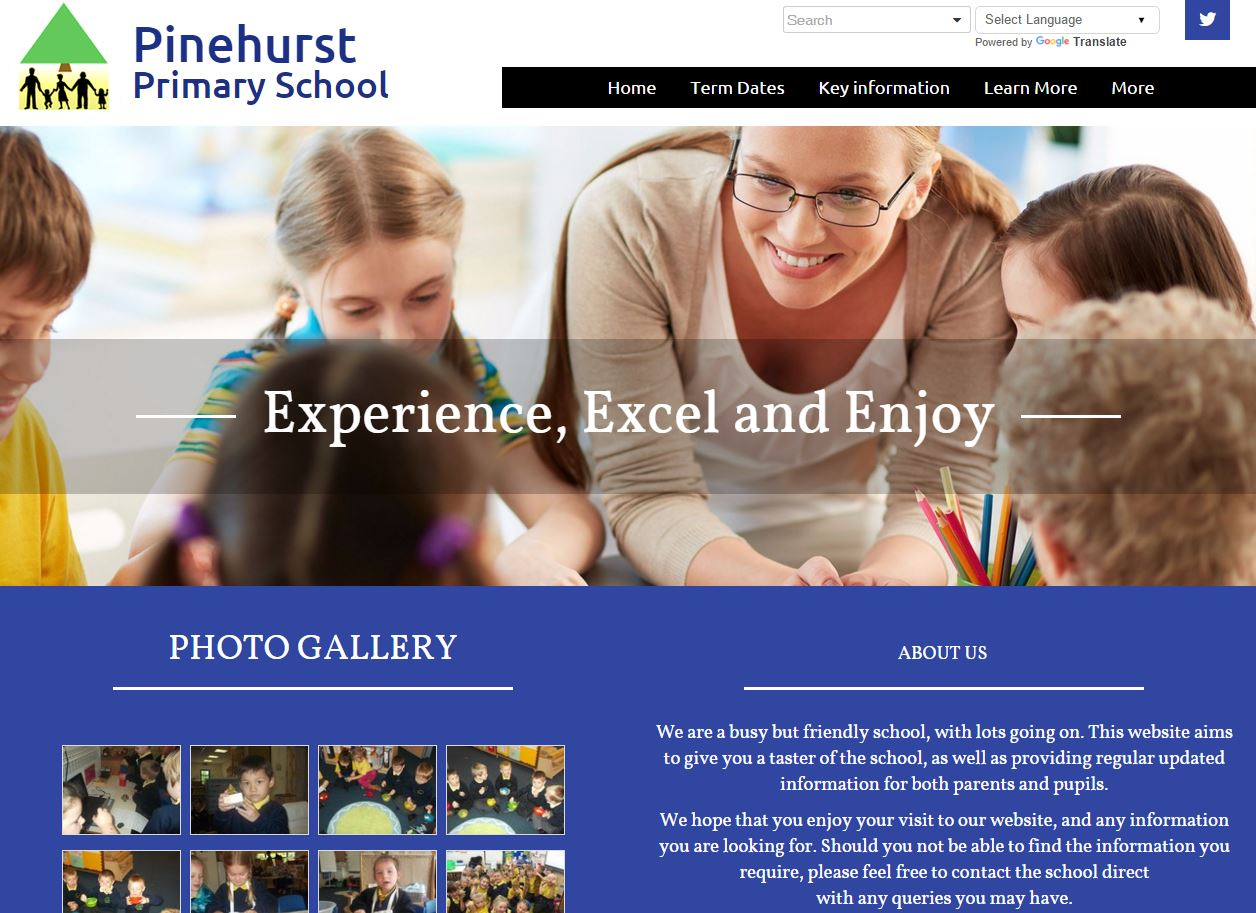 We've got another great website of the week that has been created by  Pinehurst Primary School based in Liverpool, Merseyside. Great design, a  lot of good ...