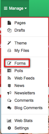 Adding a form to your school website